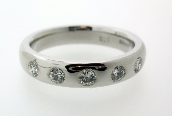 diamond in rings ctw bridge engagement jeweler platinum ring five jewelry ben